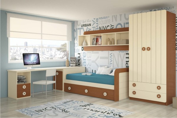 Dormitorios juveniles modernos decoraci n dormitorios for Dormitorios juveniles economicos
