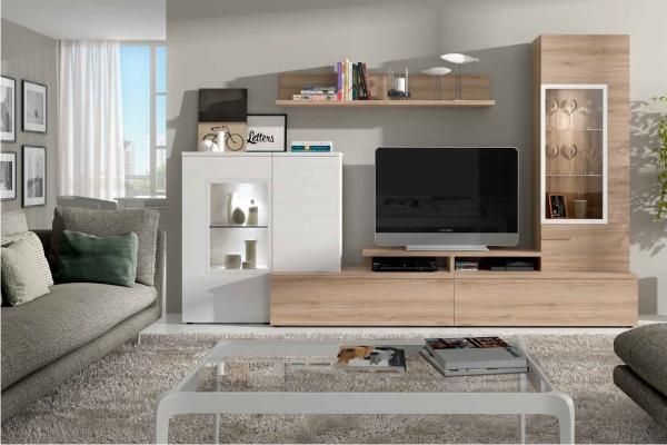 Mueble modular salon peque o en madrid barato liquidacion for Muebles comedor modulares
