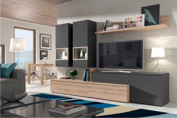 Mueble de salon modular moderno en madrid barato - Muebles piso completo ...