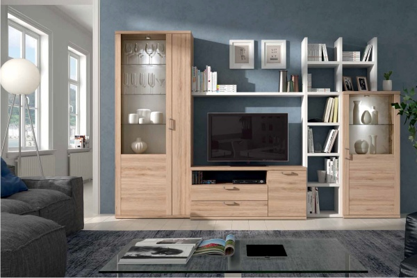 Muebles modulares para televisi n tv en madrid barato for Modulos tv baratos
