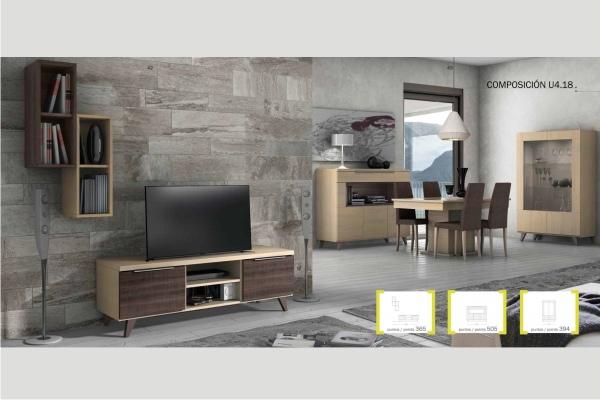 Mueble modular salon peque o en madrid barato liquidacion for Mueble modular salon