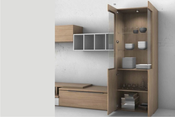 Mueble de salon modular moderno en madrid barato for Mueble moderno salon