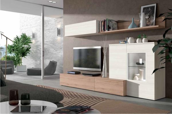 Mueble de salon modular moderno en madrid barato for Muebles de salon madrid