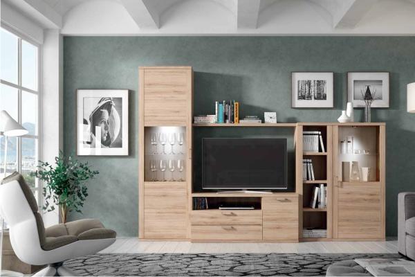 Muebles modulares para televisi n tv en madrid barato for Muebles de salon modulares