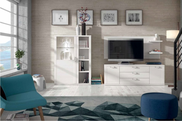 Mueble de salon modular moderno en madrid barato - Muebles modulares modernos ...
