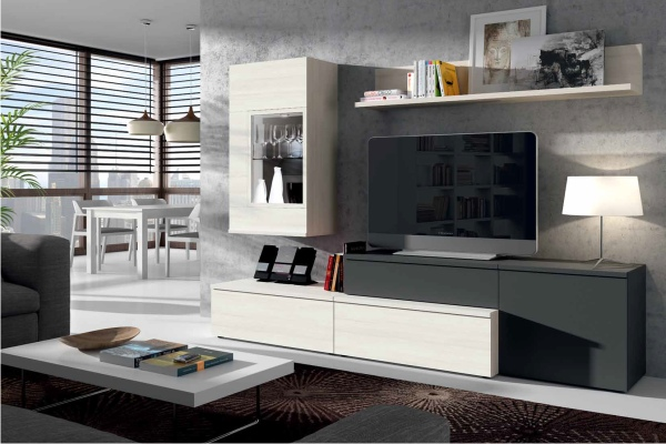 Mueble de salon modular moderno en madrid barato for Web muebles online