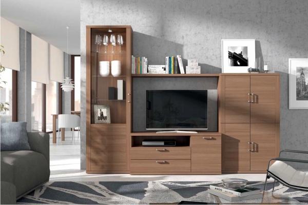 Mueble modular salon peque o en madrid barato liquidacion for Muebles para salones pequenos