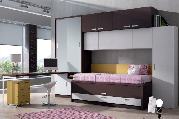 Camas abatibles horizontales madrid tienda camas juveniles horizontales abatibles madrid - Muebles literas abatibles ...