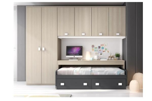 Camas dormitorio juvenil tienda liquidacion ofertas - Armarios con cama incorporada ...
