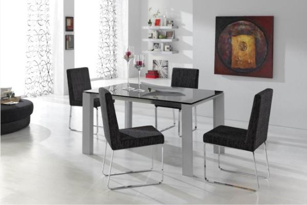 Conjunto mesa y sillas madrid tienda muebles adama - Conjunto mesa extensible y sillas comedor ...