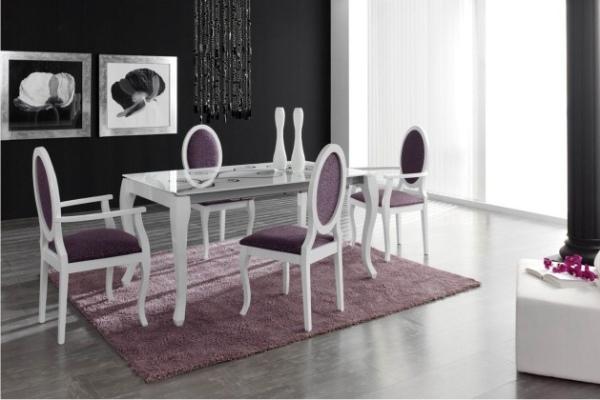 Conjunto mesa y sillas madrid tienda muebles adama Catalogo de mesas y sillas de comedor