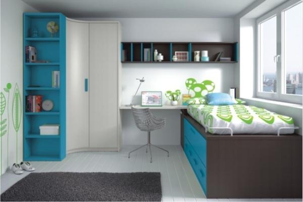 Mueble juvenil compacto tienda liquidacion oferta for Armarios para dormitorios juveniles
