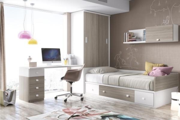 Mueble juvenil compacto tienda liquidacion oferta for Dormitorios juveniles baratos sin armario