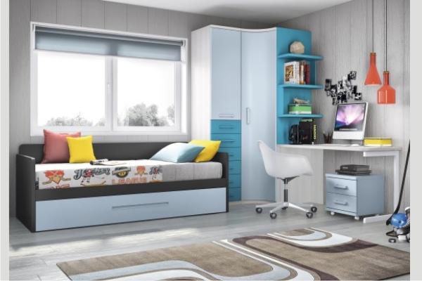Mueble juvenil compacto tienda liquidacion oferta for Muebles juveniles baratos madrid
