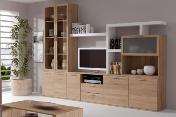 Salones madrid salones modulares apilables salon - Mueble de salon barato ...