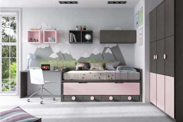 Muebles dormitorio escritorio juvenil tienda liquidacion for Armarios juveniles baratos en barcelona