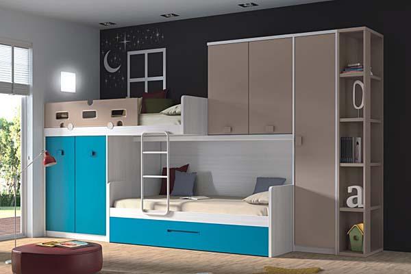 Literas muebles dormitorio juvenil tienda liquidacion for Literas juveniles modernas