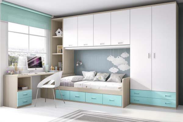 Mueble juvenil compacto tienda liquidacion oferta - Muebles dormitorio madrid ...