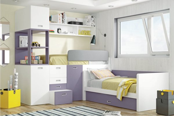 Literas muebles dormitorio juvenil tienda liquidacion for Literas individuales baratas
