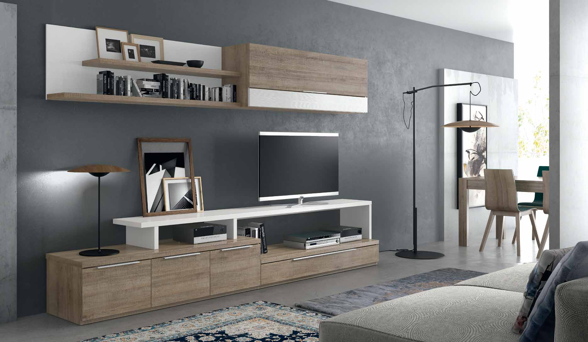 Muebles modulares salon modernos stunning full size of for Modulares para salon