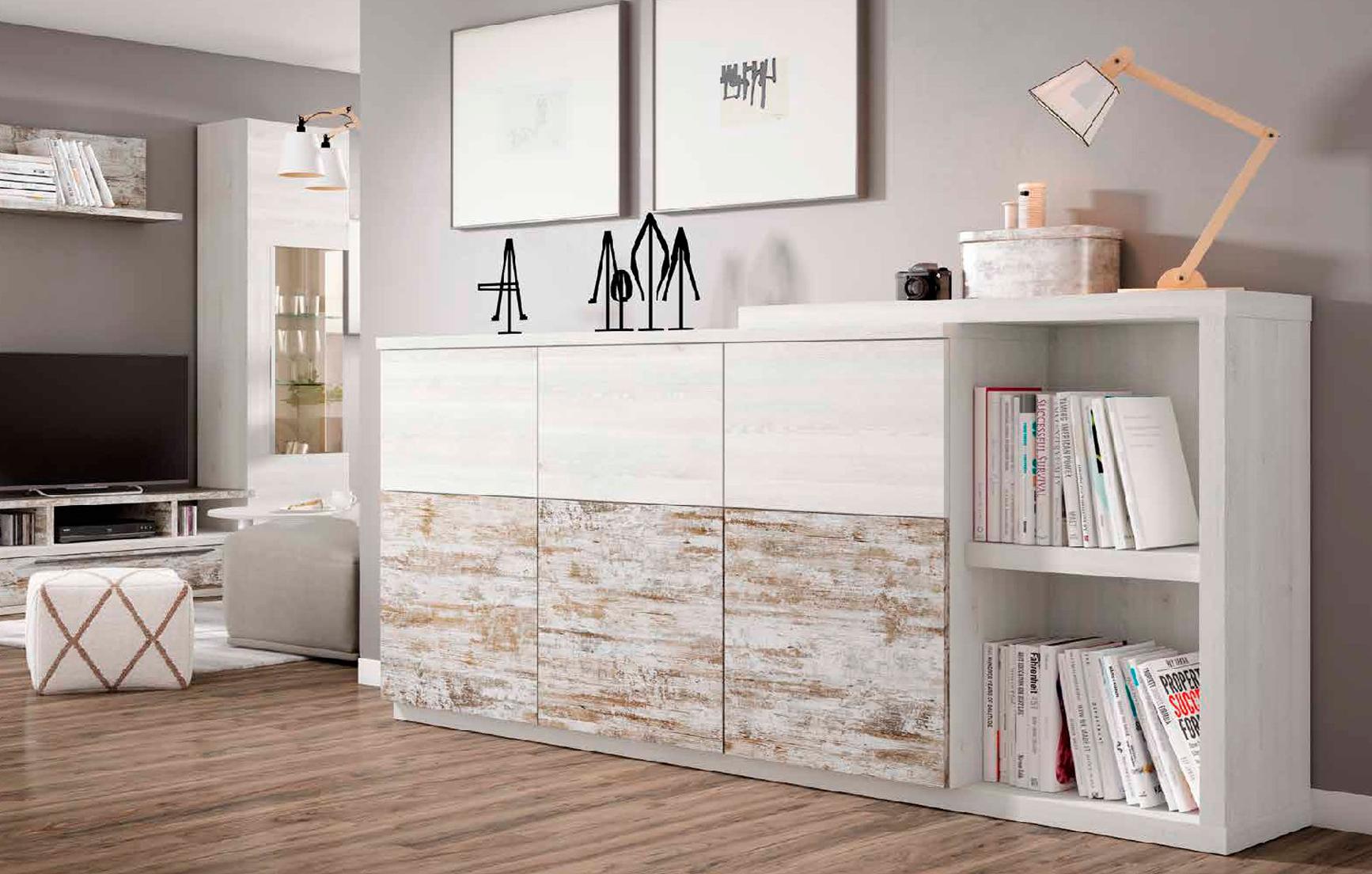 Aparador Blanco nordic y vintage - Muebles Adama Tienda de muebles ...