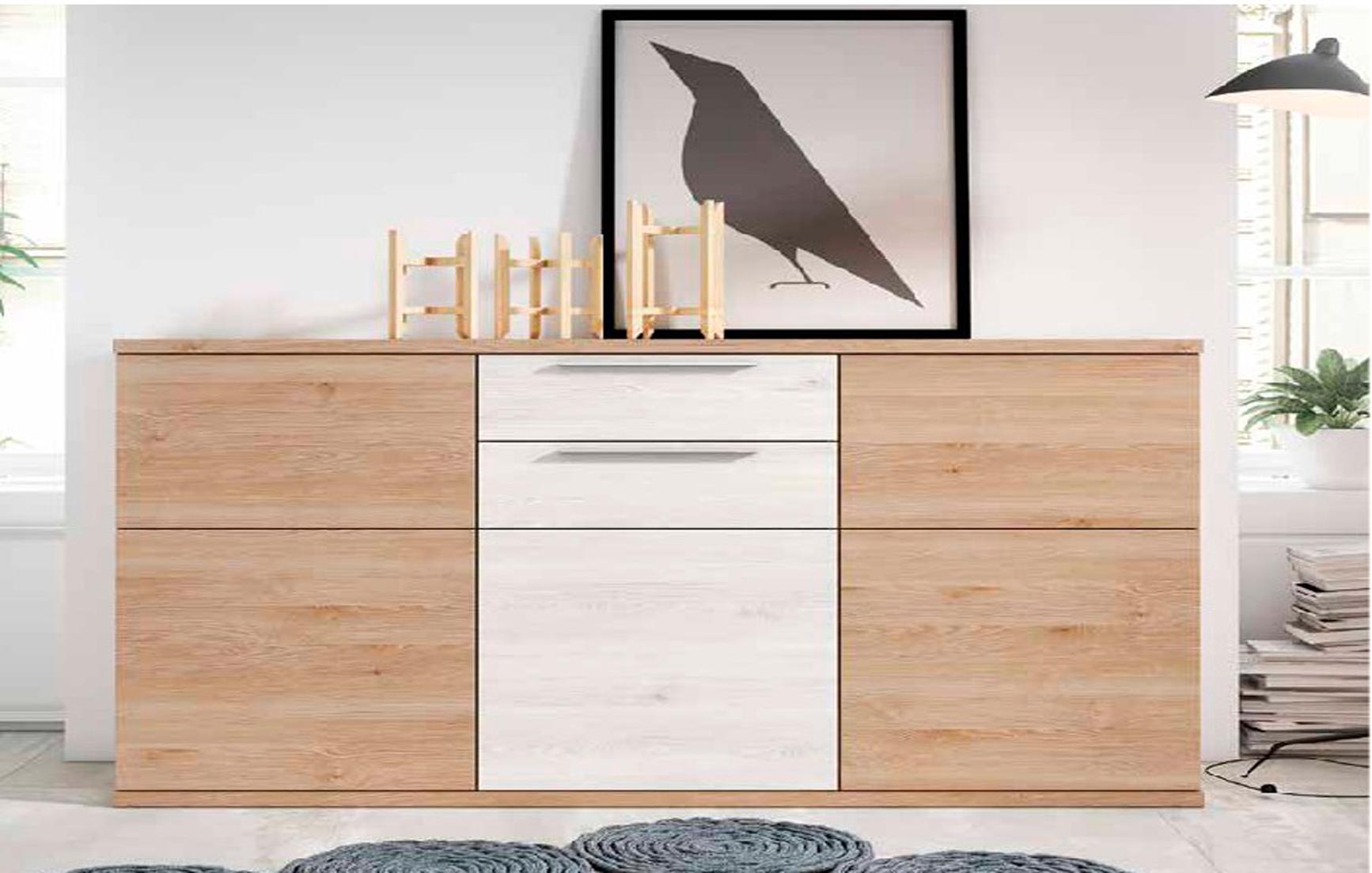 Aparador Pino Dan S Y Blanco Nordic Muebles Adama Tienda De  # Muebles Todo Pino