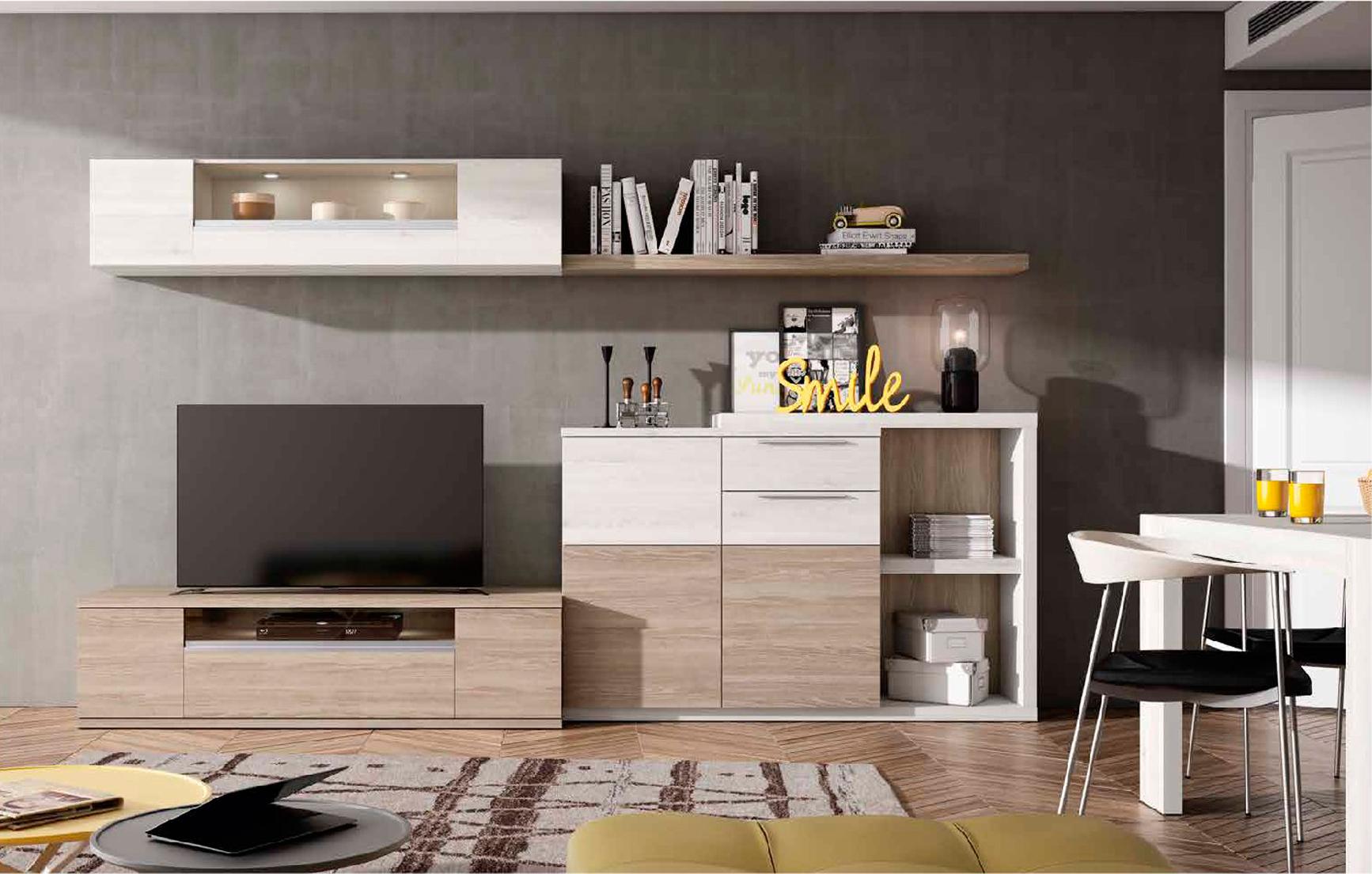 Mueble de Salón Blanco nordic y sable - Muebles Adama Tienda de ...