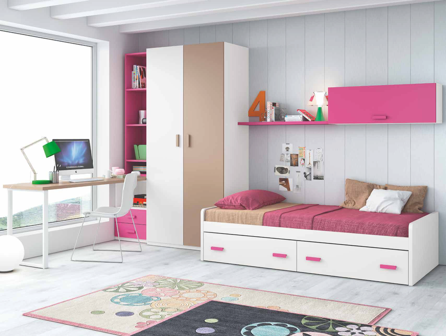 Tienda de muebles en madrid de salon mesas sillas for Habitaciones juveniles cama 105