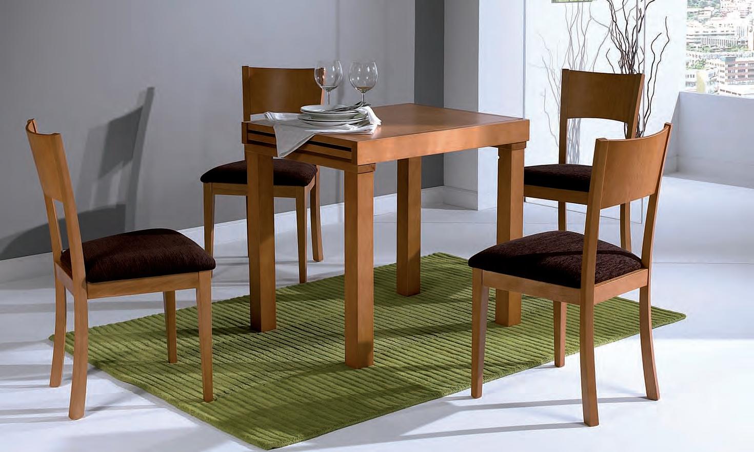 Mesa de comedor extensible madera