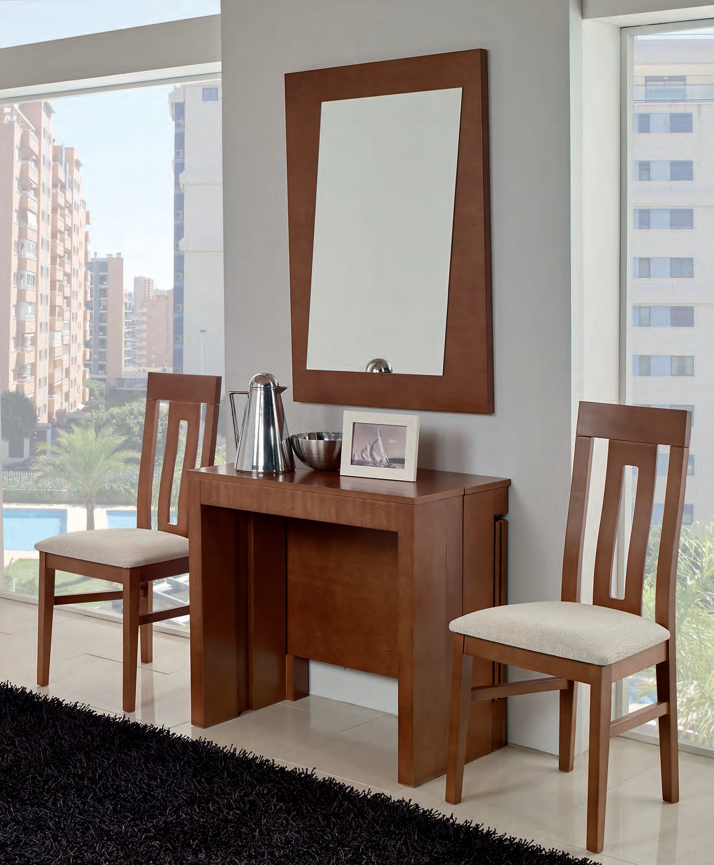 Recibidor mesa de comedor extensible madera muebles - Sillas de recibidor ...