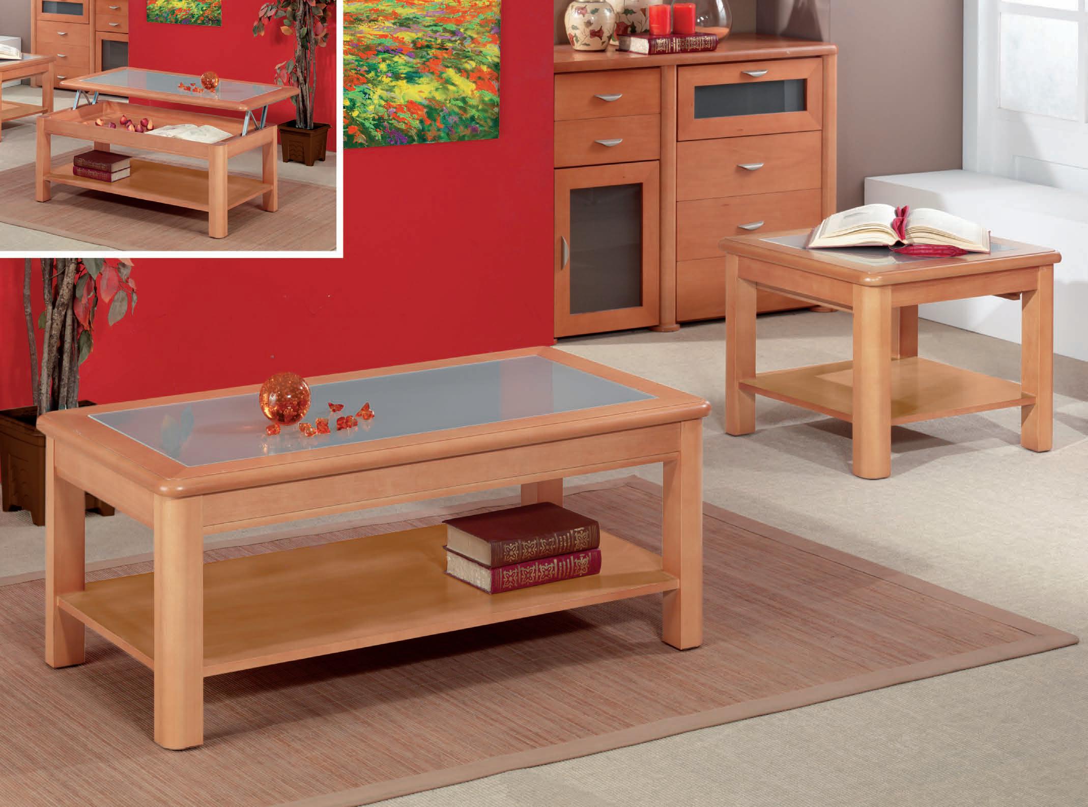Mesa de rinc n y cristal mate muebles adama tienda de - Mesas de rincon ...