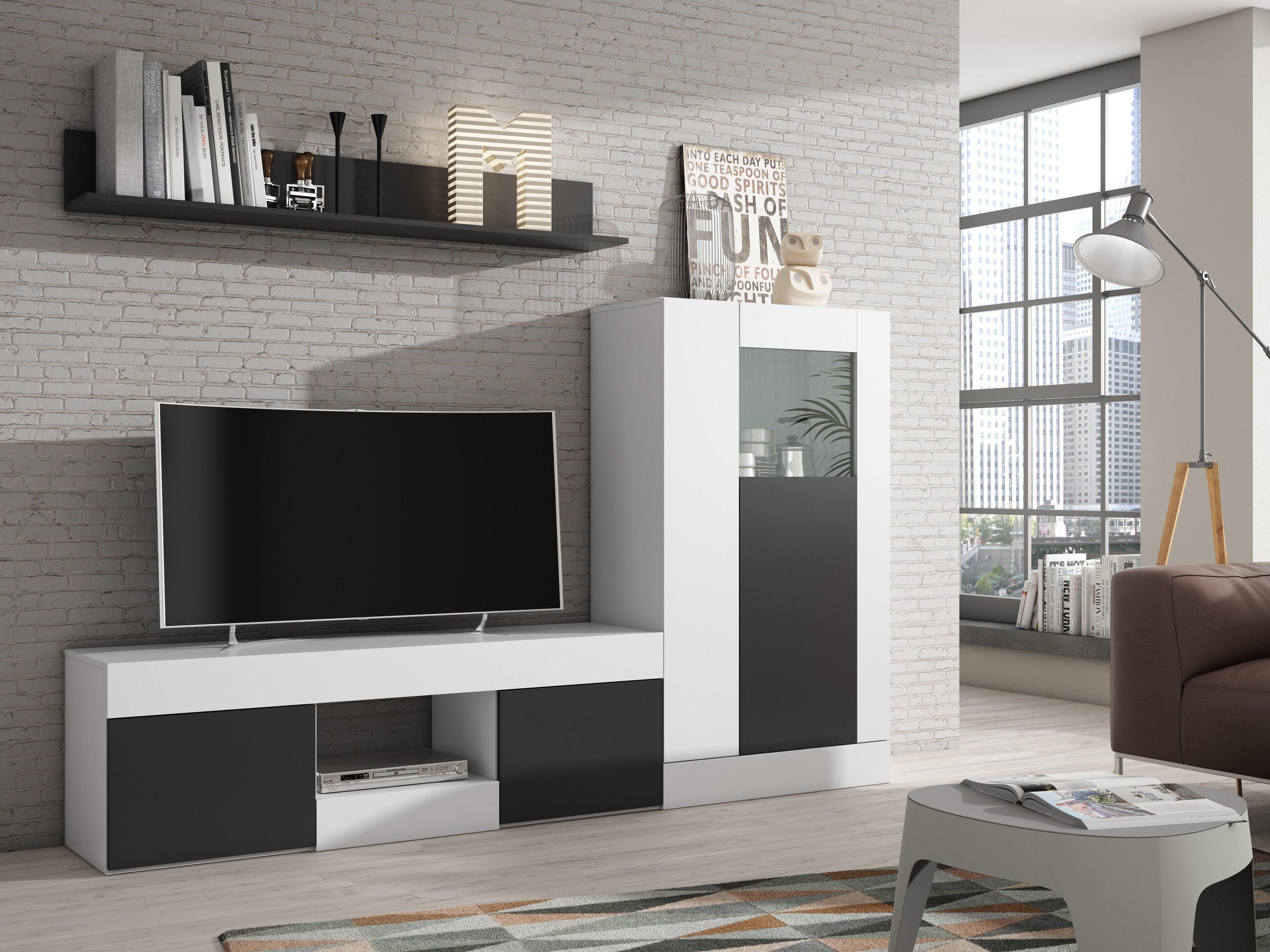Salon en blanco y negro dise os arquitect nicos for Mueble salon blanco y negro