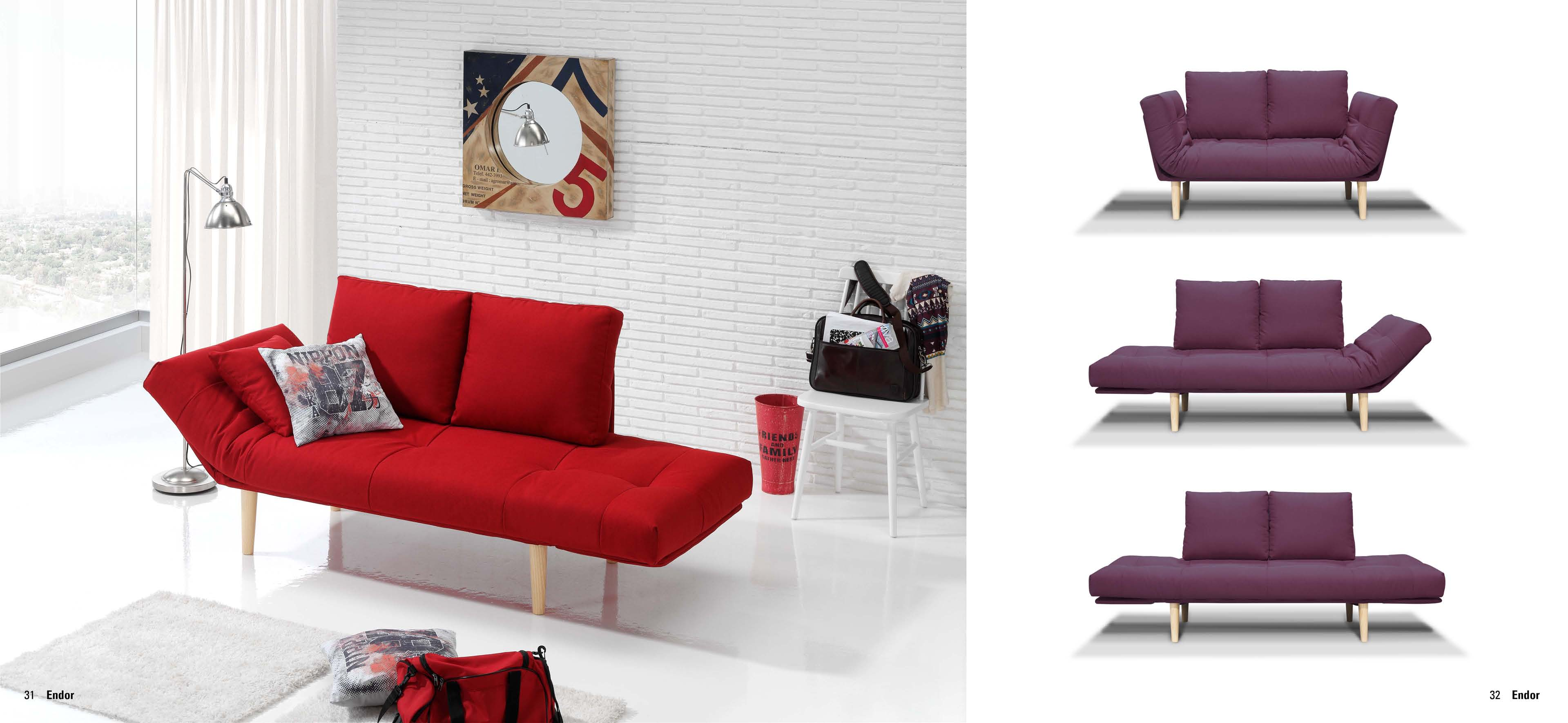 Sof cama estilo juvenil muebles adama tienda de muebles for Sofa cama colores