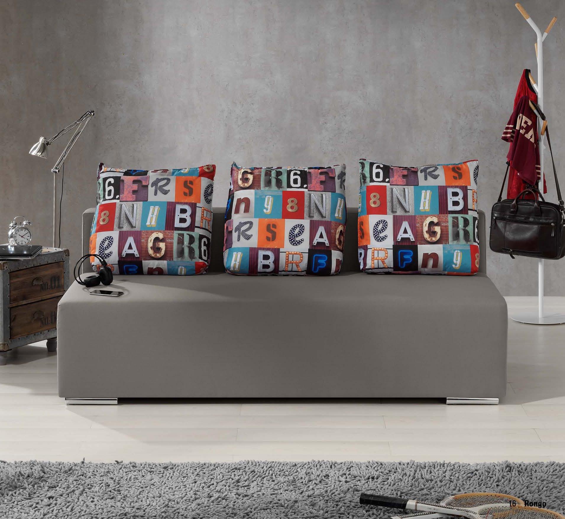Sof cama estilo juvenil moderno muebles adama tienda de - Sofa cama juvenil ...
