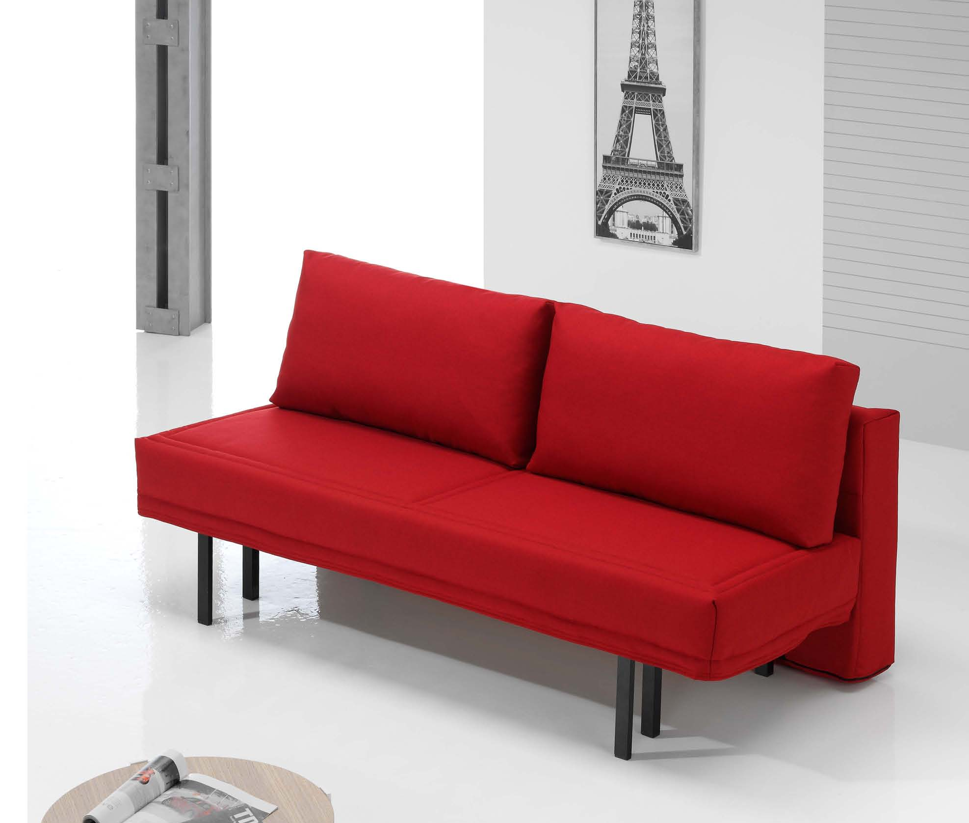 Sofa cama chaise longue madrid sof de tela ares de home for Sofa cama modernos
