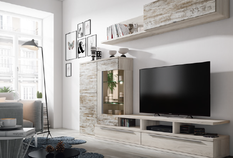 Ambiente mueble de sal n muebles adama tienda de muebles - Muebles de salon modulares de madera ...