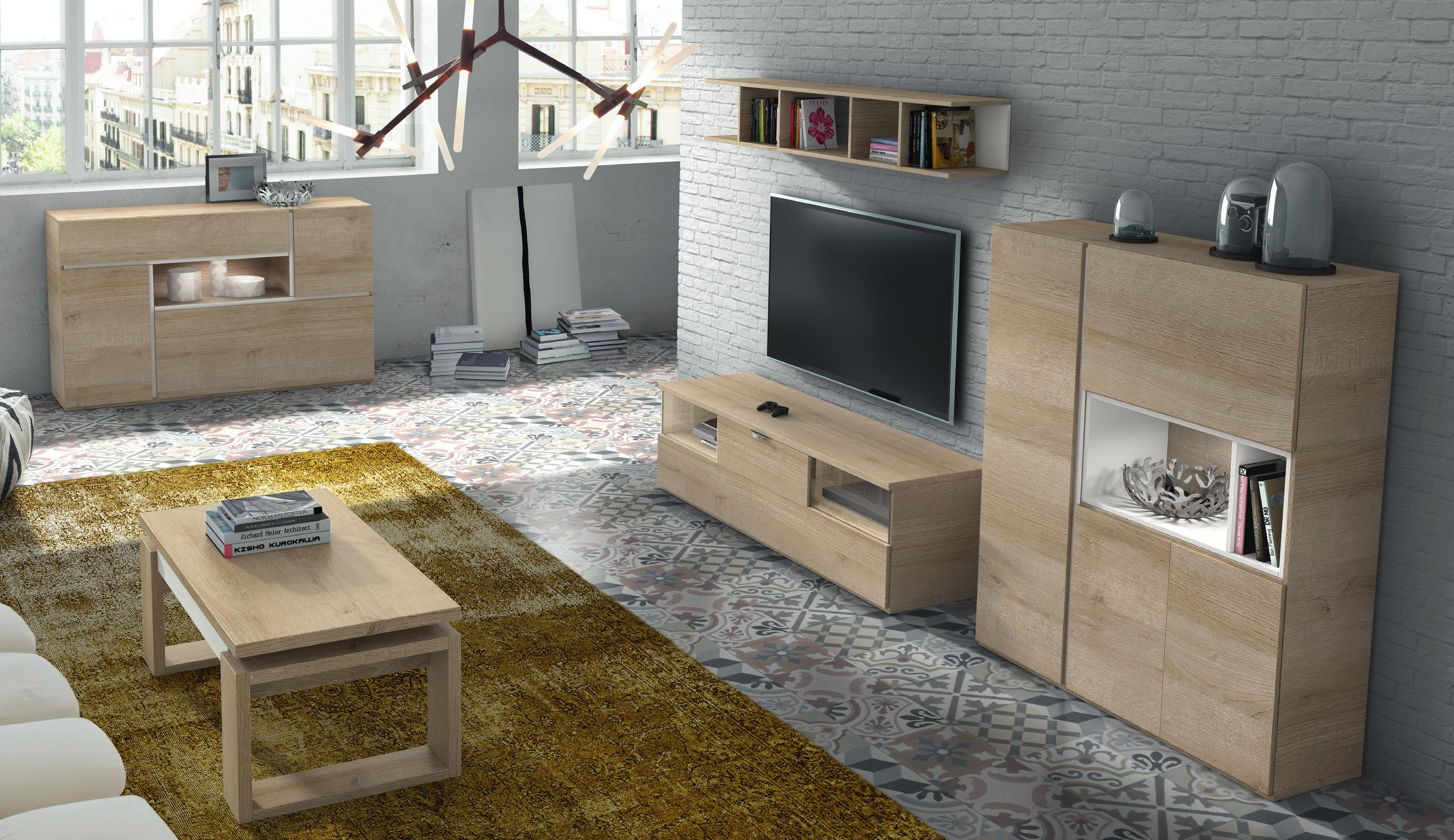 Mueble De Sal N Color Natural Y Blanco Poro Muebles Adama Tienda  # Muebles General Ricardos
