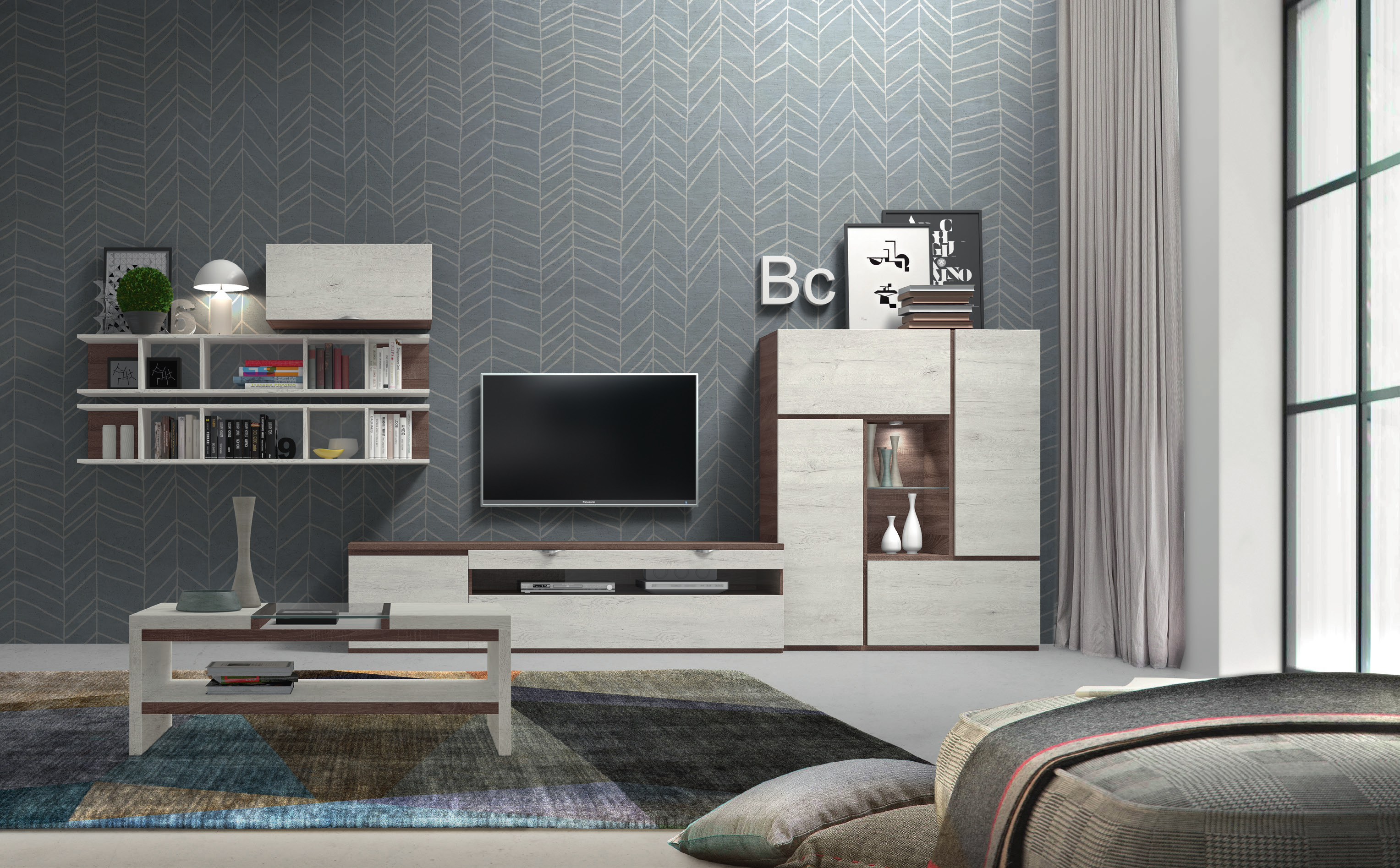 Productos archivo muebles adama tienda de muebles en madrid for Mueble salon blanco