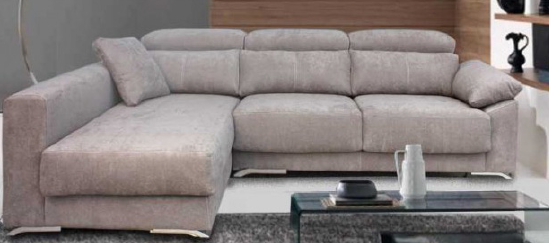 Sofá chaise longue tela antimanchas Se fabrica a medida Muebles