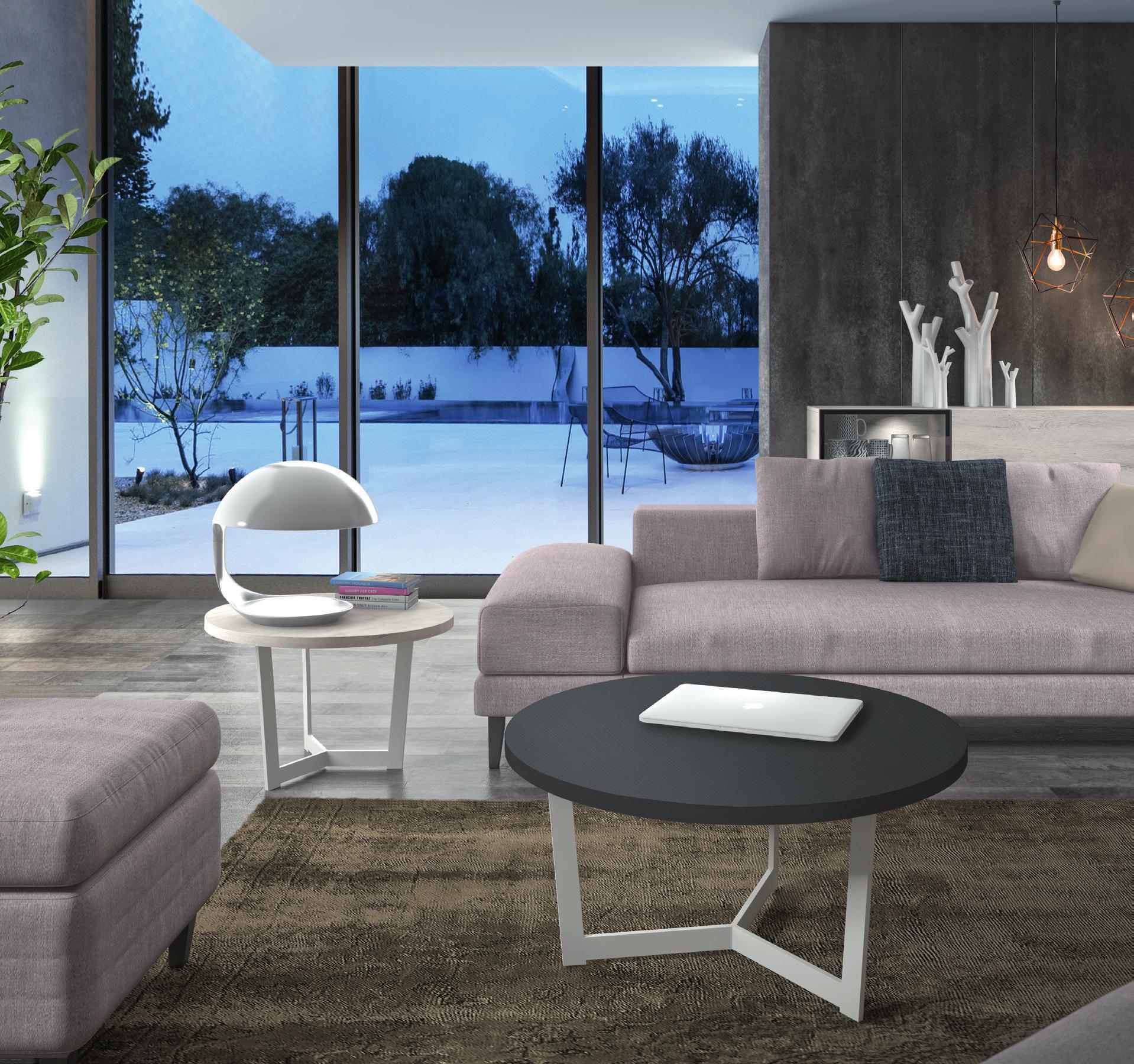 Mesa de centro redonda 60 cm diametro muebles adama - Patas para mesa de centro ...