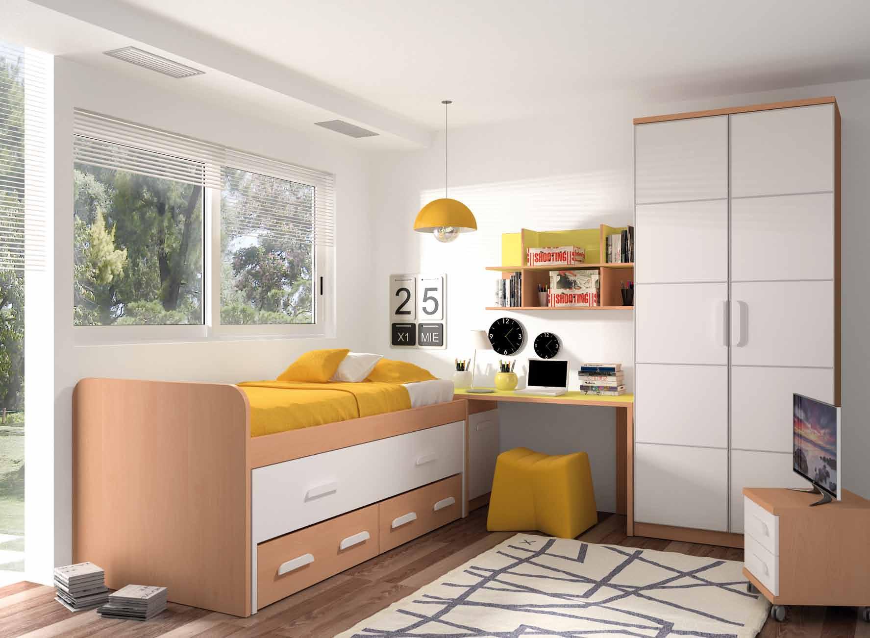 Dormitorio juvenil completo muebles adama tienda de for Muebles dormitorio madrid