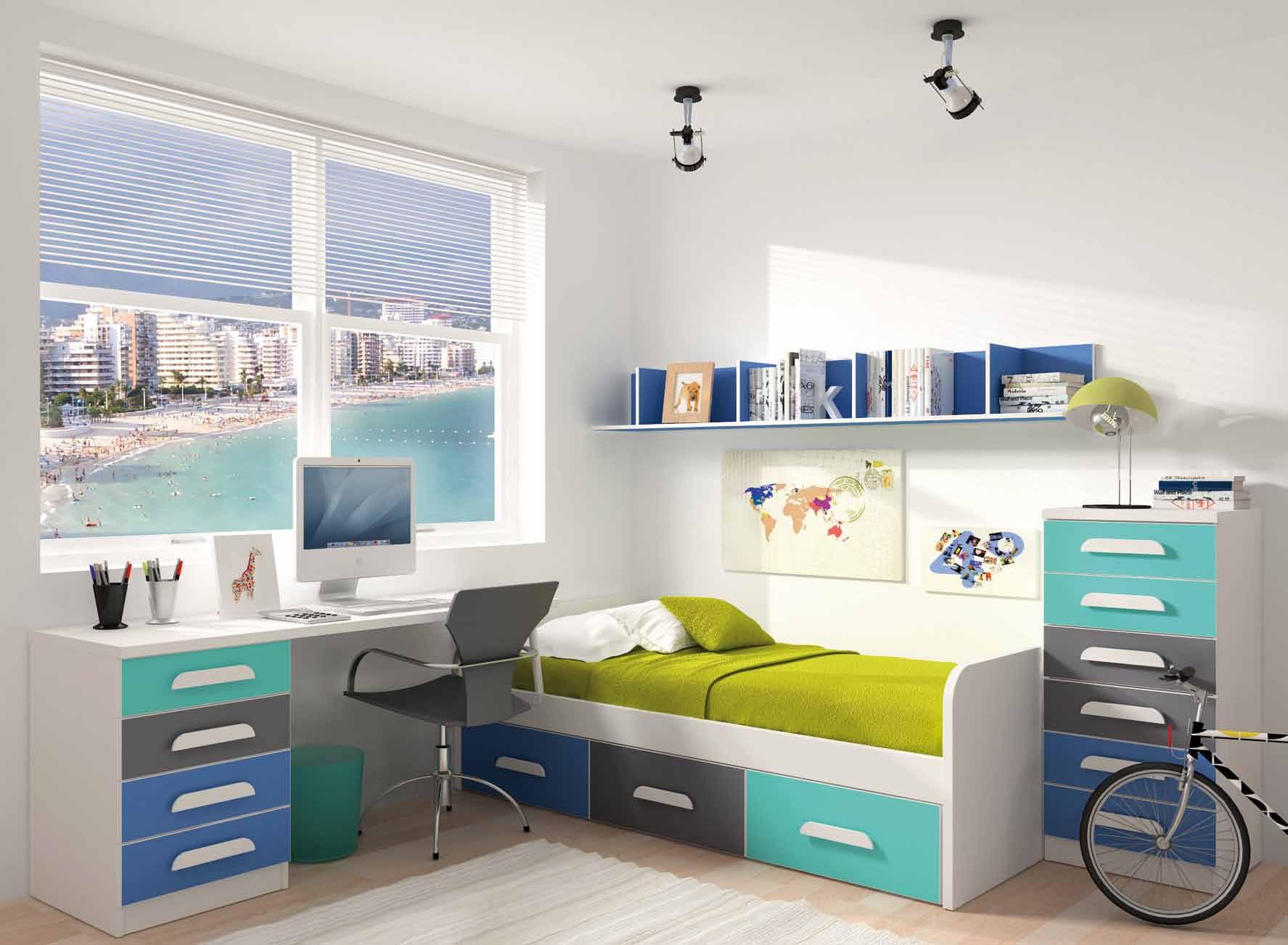 Dormitorios juveniles con cama de matrimonio affordable - Camas dormitorio juvenil ...