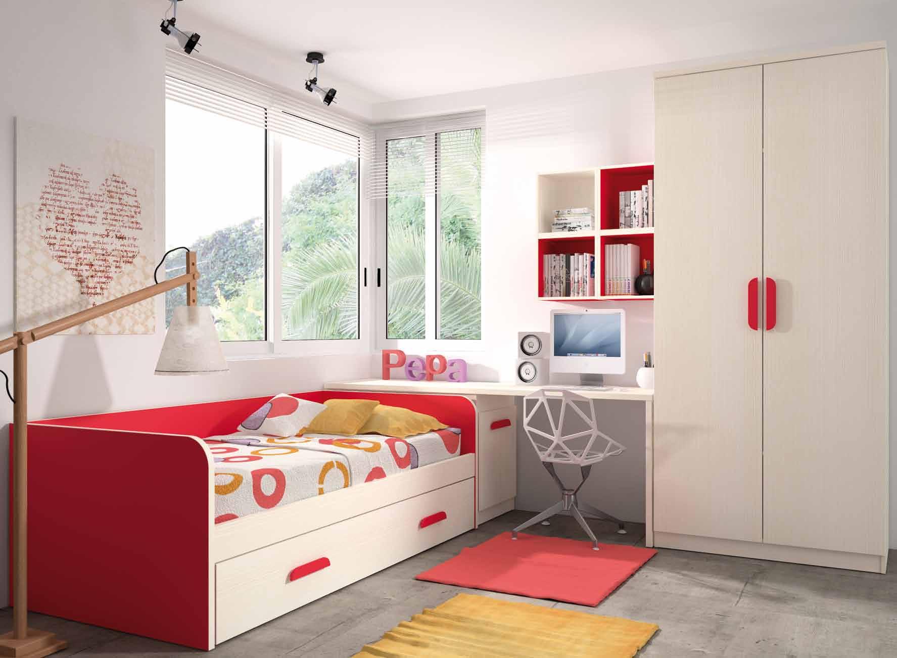 Dormitorio juvenil completo muebles adama tienda de - Cama juvenil compacta ...