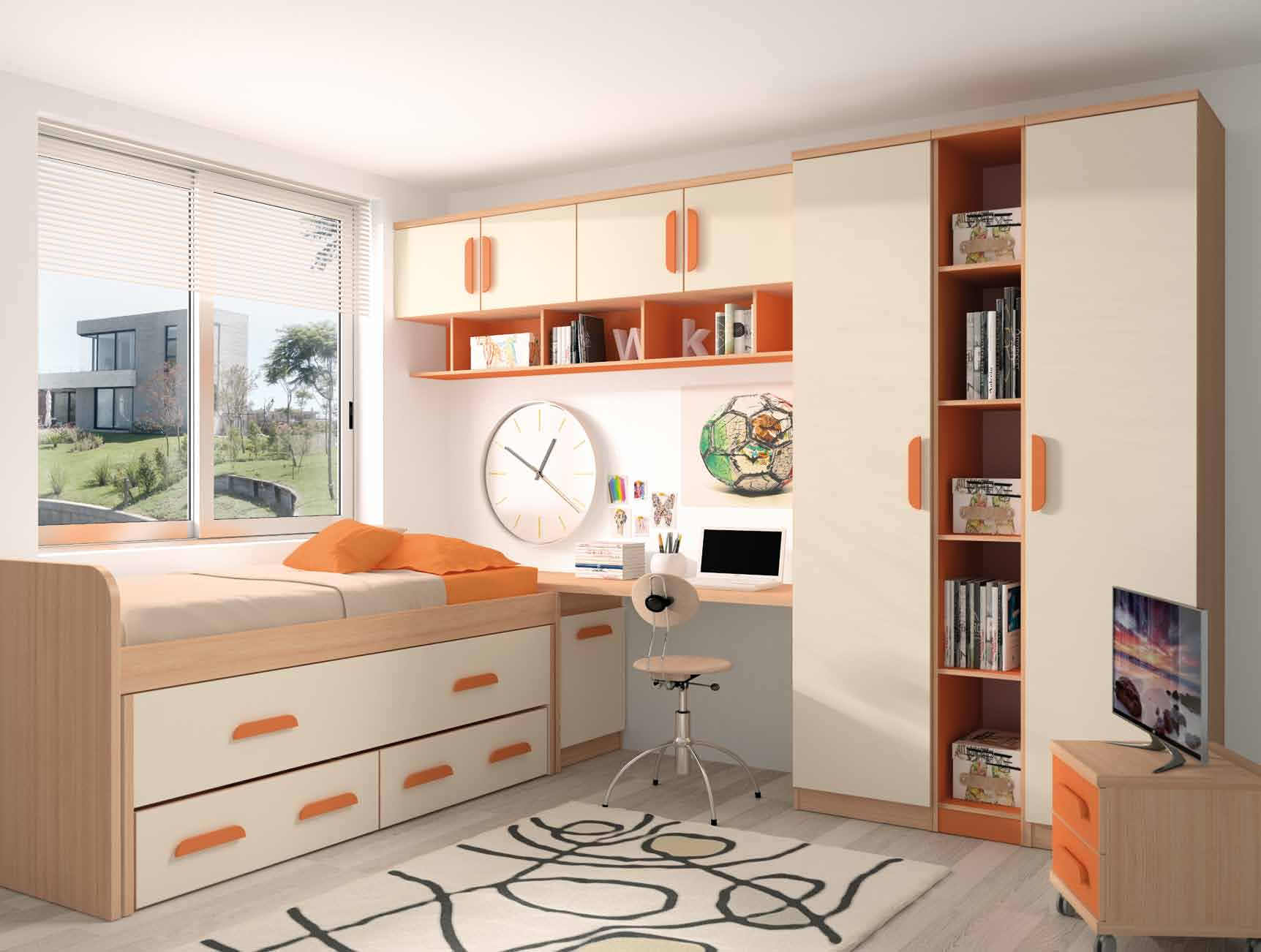 Dormitorio juvenil muebles adama tienda de muebles en madrid - Muebles dormitorio madrid ...