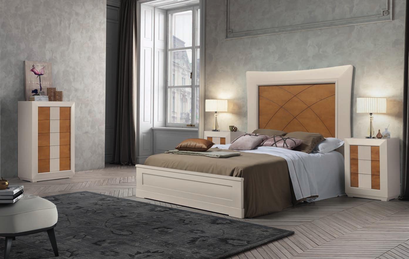 Dormitorio matrimonio completo gris perla y nuez muebles for Dormitorio completo