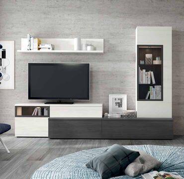 Mueble de salón AZABACHE Y POLAR - Muebles Adama Tienda de muebles ...
