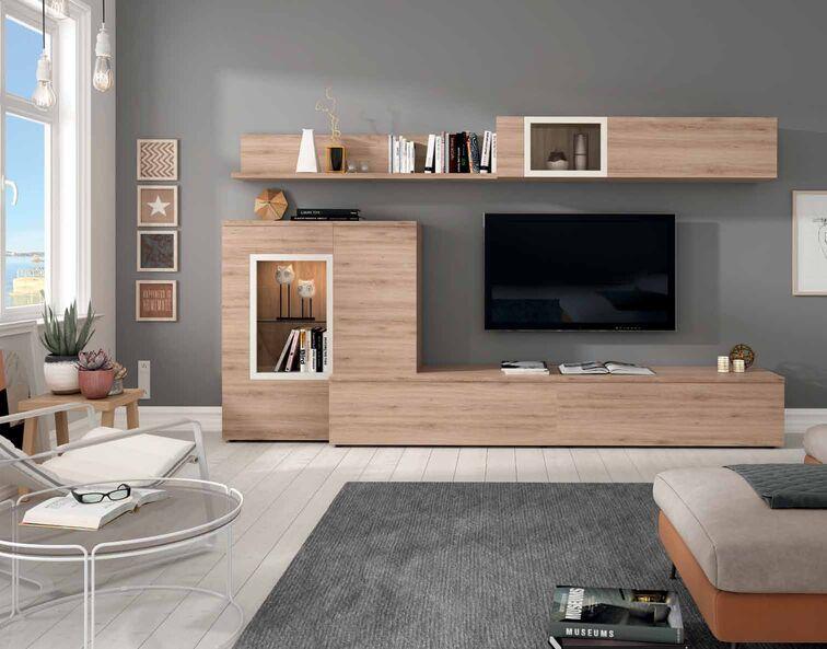 mueble de sal n roble natural y polar muebles adama