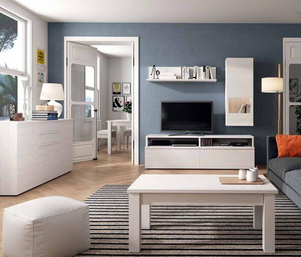 Mueble de salón blanco polar - Muebles Adama Tienda de muebles en madrid