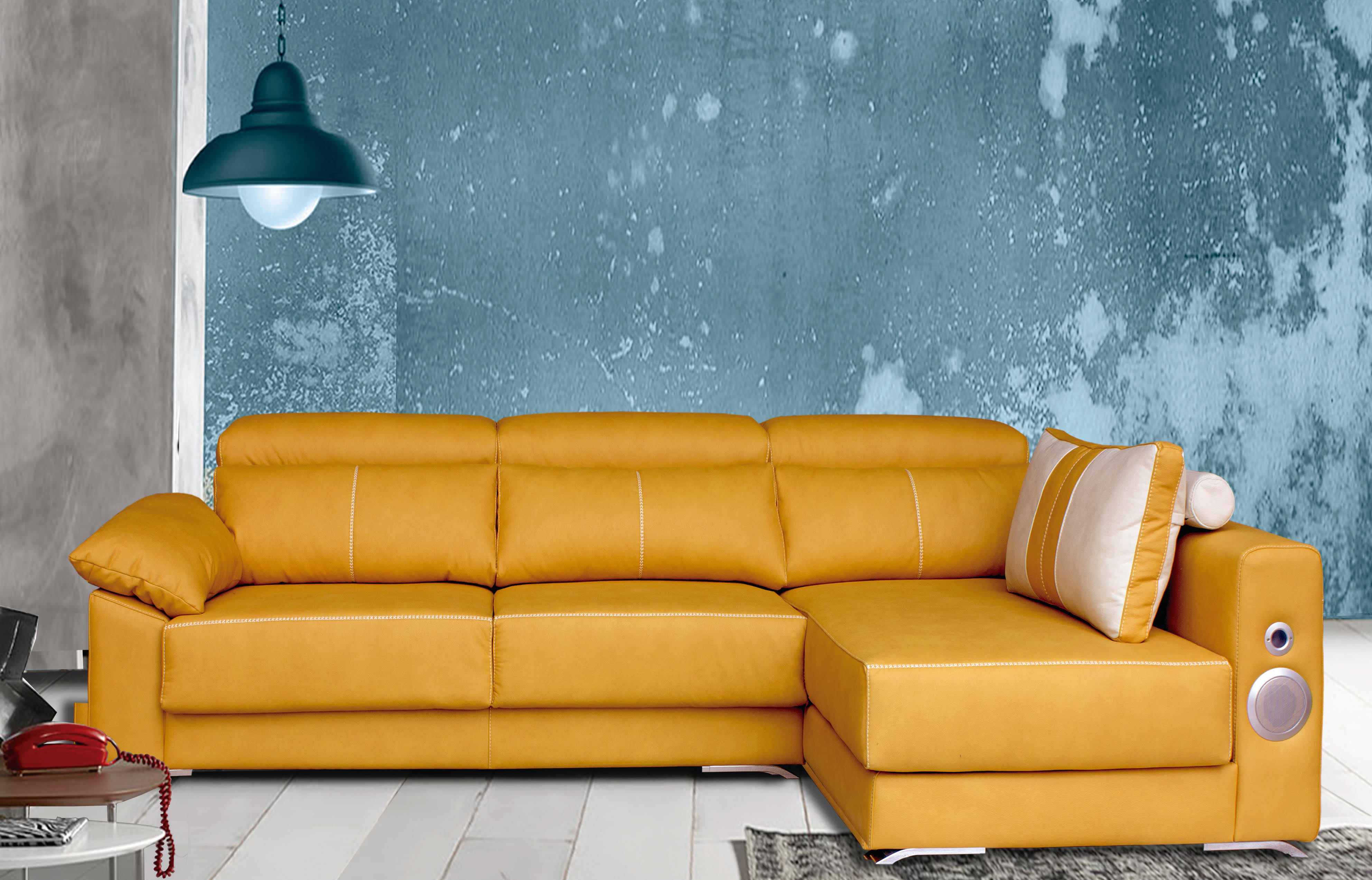 Sof chaisse longue tela anti manchas de regalo muebles for Sofas chaise longue ofertas