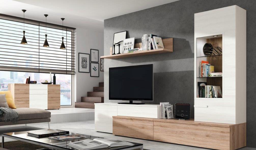 Composici n sal n moderno muebles adama tienda de for Composicion muebles salon modernos